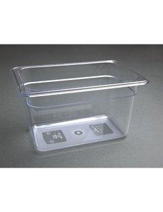 Vogue Polycarbonaat bak transparant GN 1/4 - 150mm | 265x162mm.