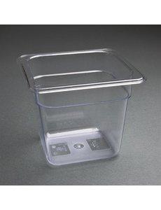 Vogue Polycarbonaat bak transparant GN 1/6 - 150mm | 176x162mm.