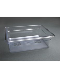 Vogue Polycarbonaat bak transparant GN 1/2 - 100mm | 325x265mm