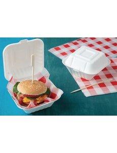 Fiesta Green Composteerbare hamburgerbakjes | 15x15cm. | 500 stuks