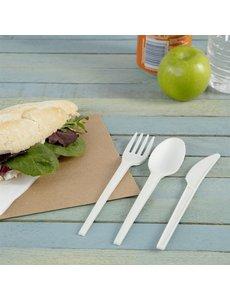 Vegware Composteerbaar bestek mes, vork, lepel en servet  | 250 stuks