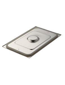 Gastro-M Gastronorm deksel met siliconen afdichting RVS GN2/3 | 354x325mm.
