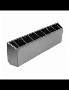 Gastro-Inox Schoorsteen voor 60cm. apparaten 700HP   600x75xH150mm.