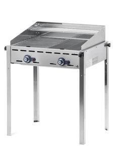 Hendi Green Fire Gasbarbecue met 2 Branders | Gietijzer Rooster + Bakplaat | 11.6kW