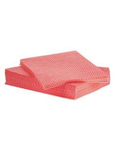 Jantex Afneemdoekjes Solonet rood  | 33x58 cm. | 50 stuks