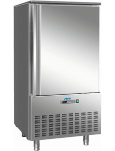 Saro Snelkoeler 368 Liter RVS | 10 x 1/1 GN  | -18 / -22 °C | 80x81,5x(H)164,5cm