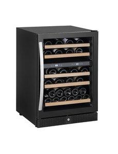 Combisteel Wijnkoeler met 2 zones en 5 schappen voor 44 flessen | 595x655xH860mm.