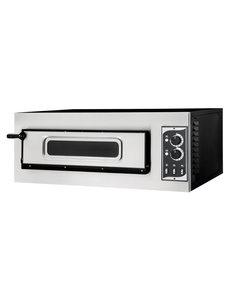 Hendi Pizzaoven Basic   Voor 1 Pizza Ø 45 cm.    5000W / 400V   915x621x(h)357 mm.