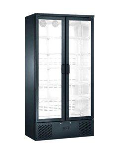 TopCold Koelkast met glazen klapdeuren en 10 roosters 500 liter | 920x515xH1870 mm.