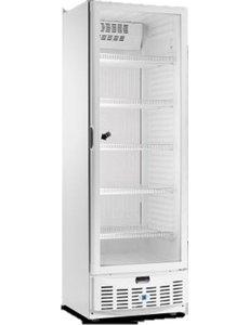 TopCold Koelkast met glazen deur wit 320 liter  | +1°/+8°C | 620x665x1860mm.