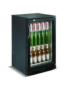 Combisteel Barkoeling met 1 deur zwart 98 liter | 50x50xH90 cm.