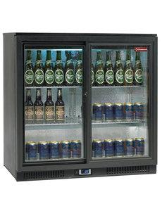 Diamond Backbar koelkast met 2 schuifdeuren |  191 liter | 90x52x(H)87cm