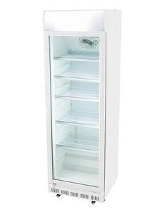 Gastro-Cool Reclame display koelkast wit | 360 Liter | H193.5x62x63.5 cm.