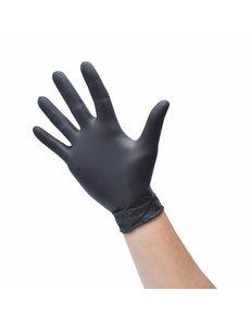 Nitril handschoen zwart poedervrij in dispenserdoos   100 stuks   Keuze uit 4 maten