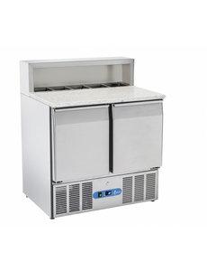 TopCold Saladette me t 2 deuren en 5x GN1/6 | +2°/+10°C | 900x705xH890mm.