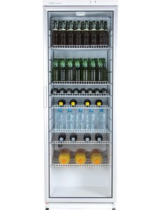 Exquisit Horeca Display Koelkast met Ventilatorkoeling   320 Liter   GKS350-1-GT-280DW   60x60x(H)173cm
