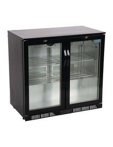 Polar Barkoeling met twee klapdeuren zwart 198 liter | 90x52xH85cm