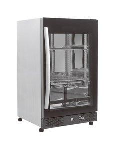 Combisteel Barkoeling met glazen deur 98 liter zwart | 50x50xH84 cm.