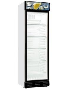 Combisteel Koelkast met linksdraaiende glazen deur 382 liter   595x600xH2000mm