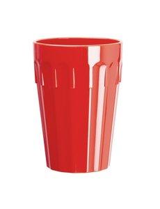 Olympia Kristallon Polycarbonaat beker 26cl rood   Per 12 stuks