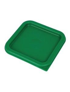 Cambro Cambro Camsquare deksel voor voedseldoos groen
