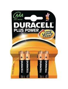 Duracell AAA batterijen | Lange levensduur | Per 4 stuks