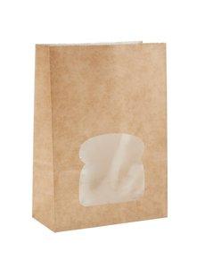 Colpac Colpac kraft sandwichboxen met venster recyclebaar (250 stuks)