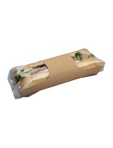 Colpac Colpac Clasp kraft baguetteverpakking met insteeksluiting recyclebaar (500 stuks)