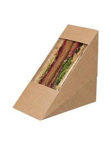 Colpac Colpac Zest driehoekige kraft sandwichboxen met acetaat venster (500 stuks)