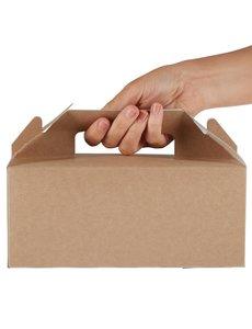 Colpac Draagbare kraft voedselbakjes composteerbaar klein   12x23xH9.7cm.   125 stuks