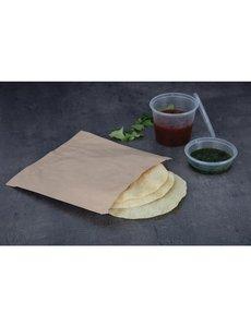 Fiesta Bruine papieren zakken klein | 17,7 x 17,7cm | 1000 stuks