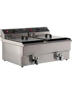 Combisteel Friteuse tafelmodel elektrisch 2x 10 liter   2x 400V   69x56xH38cm.