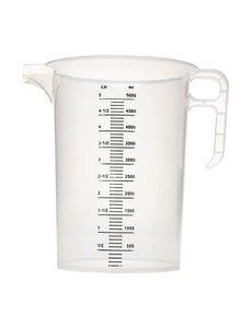 Pro-Measures Polypropyleen maatbeker 5L