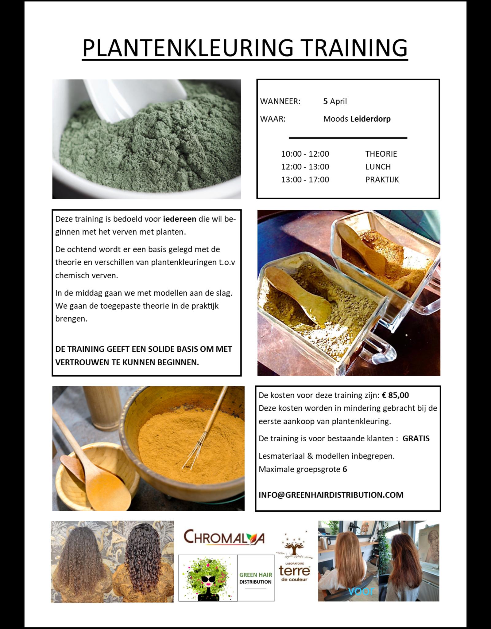 Green Hair Distribution Plantenkleuring Training 5-4-2021