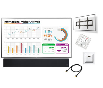 "Presentatiesysteem LED monitor 75"" - 86"" Deluxe"