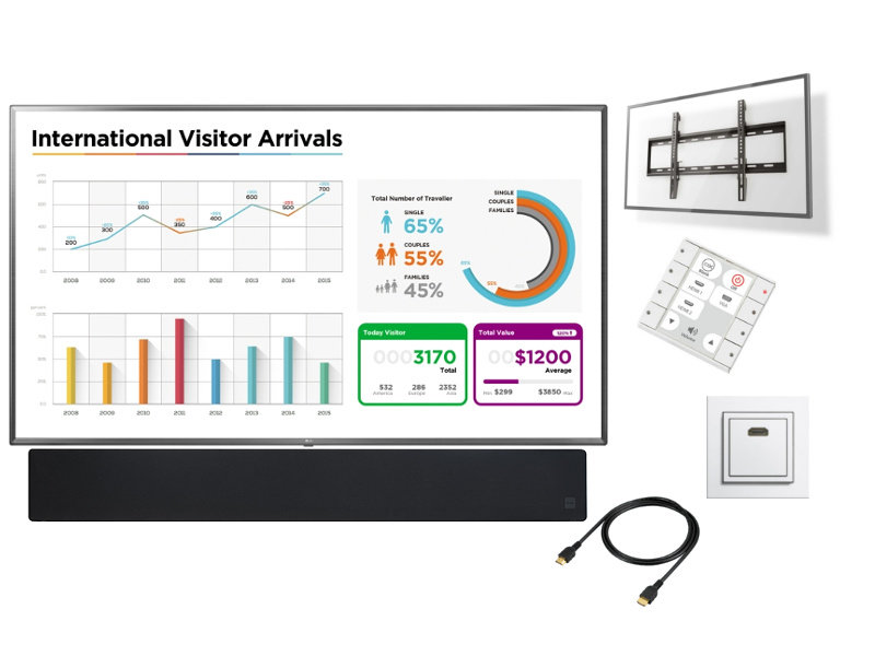 """BB Systems Presentatiesysteem LED monitor 75"""" - 86"""" Deluxe"""