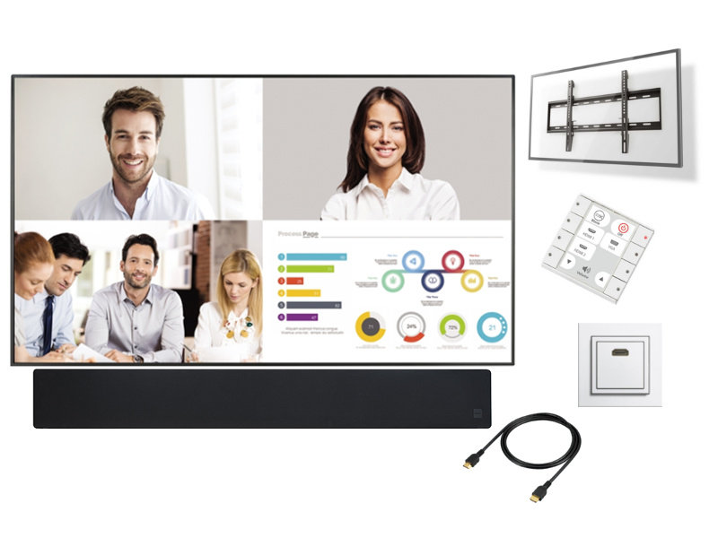 """BB Systems Presentatiesysteem LED monitor 98"""" Deluxe"""