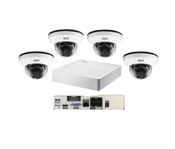 Basic camerasysteem 4x binnen dome camera en 4ch recorder