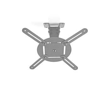 Plafondbeugel Beamer 360° Draaibaar Afstand 130 mm Zilver / Zwart