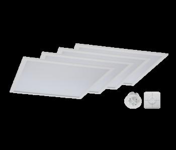 Duurzame Smart Starter verlichting Kit type A 4st LED Panels 60x60cm, Smart Sensor en de Smart Switch