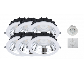 Duurzame Smart Starter verlichting Kit type B 6st LED Downlights, Smart Sensor en Smart Switch
