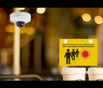Digitale klantenteller inclusief installatie