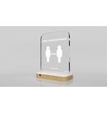 Aura Aware Aura Aware slimme afstandsmeter - Oak White