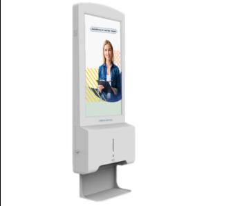 AMT automatische desinfectiezuil met beeldscherm