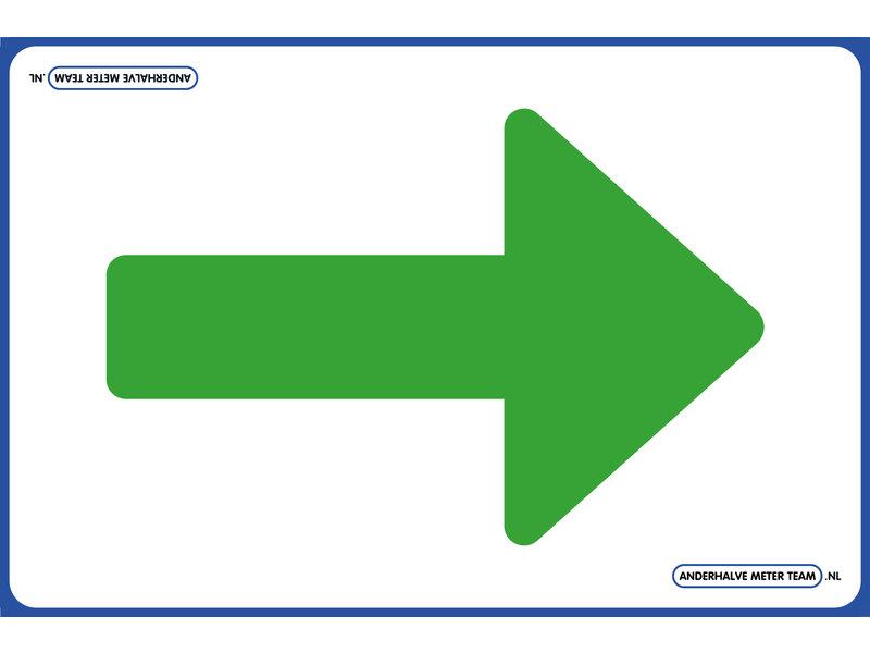 AMT AMT Vloerplaat - Eenrichtingspijl  75 x 50