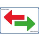 AMT AMT Vloerplaat - Pijl  groen rood 75 x 50