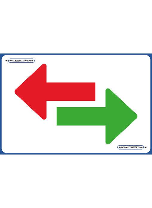 AMT Vloerplaat - Pijl  groen rood 75 x 50
