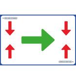 AMT AMT Vloerplaat - Looproute Voorrang 75 x 50