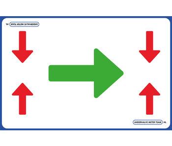 AMT Vloerplaat - Looproute Voorrang 75 x 50