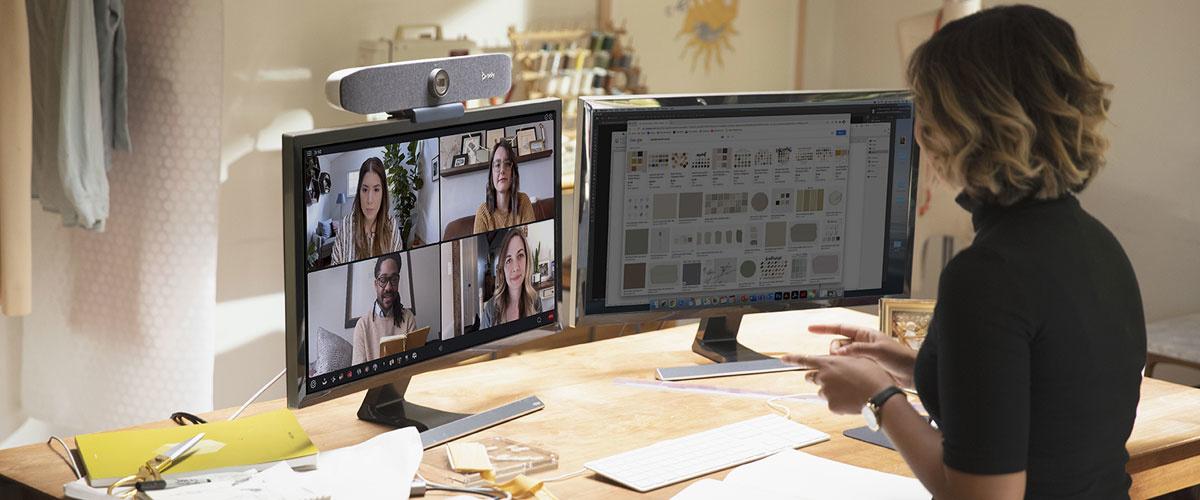 Professionele videoconferentie-oplossingen voor thuiswerkers, de Poly Studio P serie!